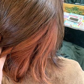 ハイトーンカラー ブランジュ ピンクベージュ ミディアム ヘアスタイルや髪型の写真・画像