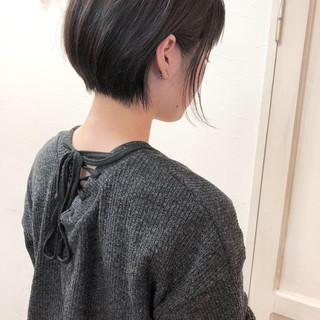 オフィス ナチュラル ショートボブ 大人女子 ヘアスタイルや髪型の写真・画像