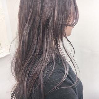 外国人風カラー 大人かわいい グレージュ ロング ヘアスタイルや髪型の写真・画像