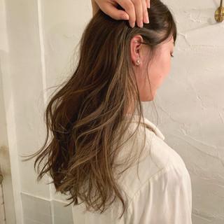 グラデーションカラー ロング エレガント インナーカラー ヘアスタイルや髪型の写真・画像