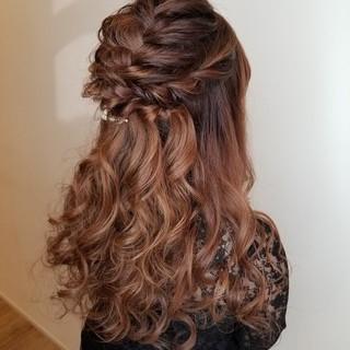 結婚式ヘアアレンジ ロング ヘアアレンジ ガーリー ヘアスタイルや髪型の写真・画像
