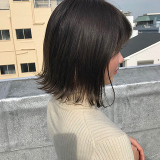 ナチュラル ハイライト グラデーションカラー グレージュ ヘアスタイルや髪型の写真・画像