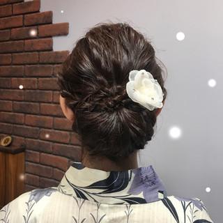 エレガント 和装 夏 ヘアアレンジ ヘアスタイルや髪型の写真・画像