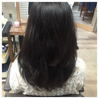 大人かわいい 黒髪 ゆるふわ ロング ヘアスタイルや髪型の写真・画像