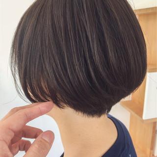 ナチュラル 大人かわいい ショートボブ 大人女子 ヘアスタイルや髪型の写真・画像