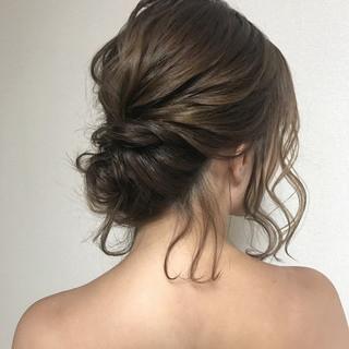 ヘアアレンジ 結婚式 外国人風カラー 秋 ヘアスタイルや髪型の写真・画像