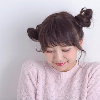 ガーリー ミディアム キュート ヘアアレンジ ヘアスタイルや髪型の写真・画像