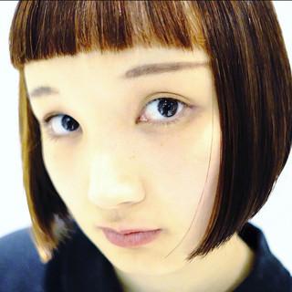 ミニボブ 大人ショート モード ショートバング ヘアスタイルや髪型の写真・画像