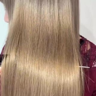 ナチュラル 外国人風カラー グレージュ ミルクティーアッシュ ヘアスタイルや髪型の写真・画像