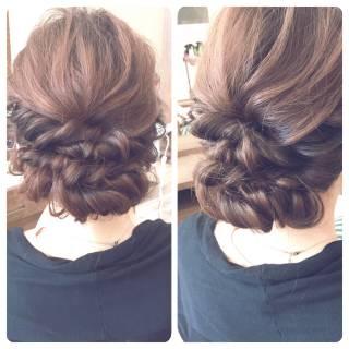 ロープ編み ゆるふわ ヘアアレンジ ナチュラル ヘアスタイルや髪型の写真・画像