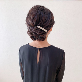 お呼ばれ 結婚式 アップスタイル ヘアアレンジ ヘアスタイルや髪型の写真・画像