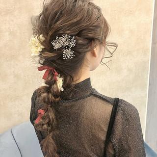 編みおろしヘア 編みおろし ロング ヘアアレンジ ヘアスタイルや髪型の写真・画像