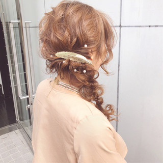 結婚式 大人かわいい デート ナチュラル ヘアスタイルや髪型の写真・画像