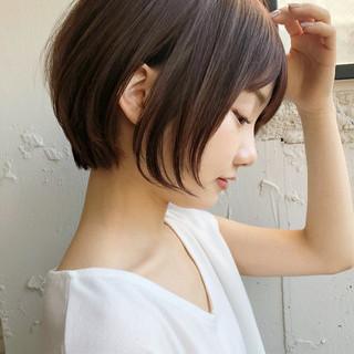 マッシュショート アンニュイほつれヘア 大人かわいい ショートボブ ヘアスタイルや髪型の写真・画像