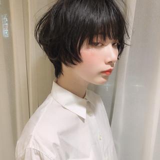 モード パーマ ショート デート ヘアスタイルや髪型の写真・画像
