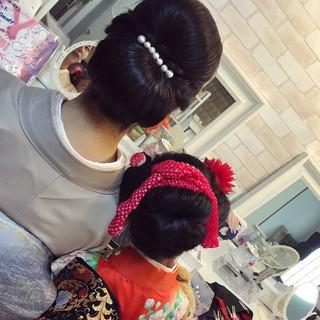 結婚式 和装 着物 上品 ヘアスタイルや髪型の写真・画像