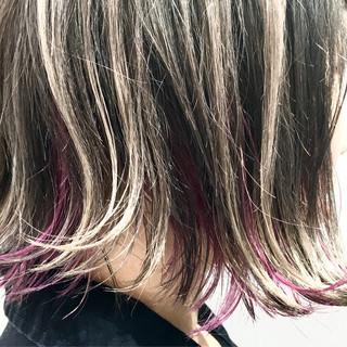 暗髪 ハイライト 外国人風 グラデーションカラー ヘアスタイルや髪型の写真・画像