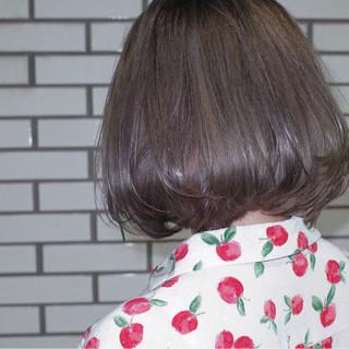 艶髪 ストレート ボブ ブリーチ ヘアスタイルや髪型の写真・画像
