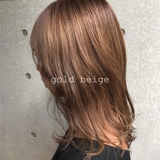 デザインカラー ナチュラル ブリーチカラー セミロング ヘアスタイルや髪型の写真・画像