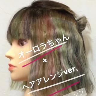 インナーカラー ハイトーン ボブ モード ヘアスタイルや髪型の写真・画像