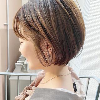 オフィス ナチュラル ショートボブ ショート ヘアスタイルや髪型の写真・画像