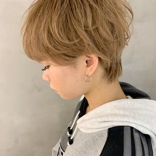 ショートボブ ショート ショートヘア アンニュイほつれヘア ヘアスタイルや髪型の写真・画像