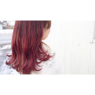 ガーリー 謝恩会 セミロング バレンタイン ヘアスタイルや髪型の写真・画像
