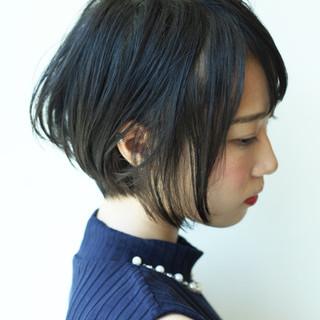 似合わせ ショートボブ ショート フェミニン ヘアスタイルや髪型の写真・画像