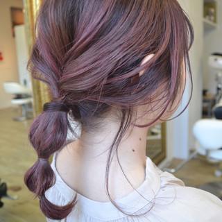 ストリート ミディアム ハイトーン ラベンダーピンク ヘアスタイルや髪型の写真・画像