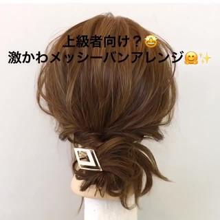 アンニュイ 結婚式 簡単ヘアアレンジ ヘアアレンジ ヘアスタイルや髪型の写真・画像
