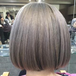 アンニュイほつれヘア ナチュラル ブリーチ ボブ ヘアスタイルや髪型の写真・画像