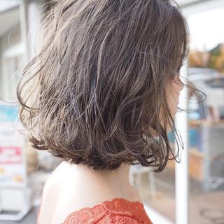 ボブ グレージュ 外国人風カラー ナチュラル ヘアスタイルや髪型の写真・画像