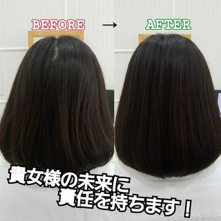 ミディアム トリートメント 艶髪 髪の病院 ヘアスタイルや髪型の写真・画像