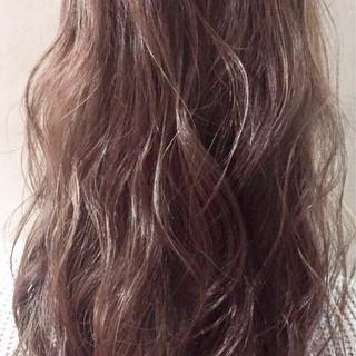 ラベンダーアッシュ ロング 夏 春 ヘアスタイルや髪型の写真・画像