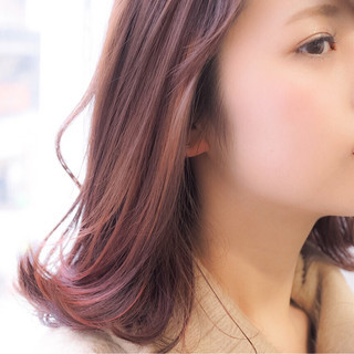 かわいい ストリート グラデーションカラー レッド ヘアスタイルや髪型の写真・画像