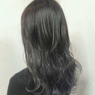 透明感 ストリート セミロング グラデーションカラー ヘアスタイルや髪型の写真・画像