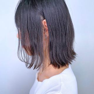 大人かわいい ナチュラル 簡単スタイリング ミディアム ヘアスタイルや髪型の写真・画像