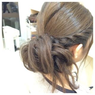 編み込み ツイスト ふわふわ ヘアアレンジ ヘアスタイルや髪型の写真・画像