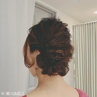 ミディアム ヘアアレンジ 結婚式ヘアアレンジ 大人かわいい ヘアスタイルや髪型の写真・画像