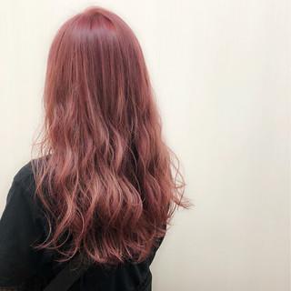 デート 結婚式 レッド ピンク ヘアスタイルや髪型の写真・画像
