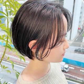 デート 大人かわいい ショート オフィス ヘアスタイルや髪型の写真・画像