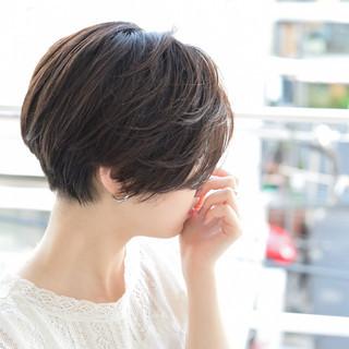 ショートボブ ショート ショートヘア 黒髪 ヘアスタイルや髪型の写真・画像