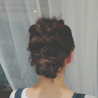ロング パーティ ヘアアレンジ ゆるふわ ヘアスタイルや髪型の写真・画像