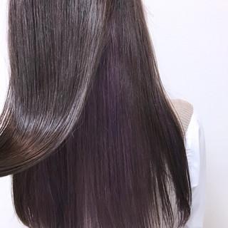 バイオレットアッシュ パープル フェミニン ピンク ヘアスタイルや髪型の写真・画像