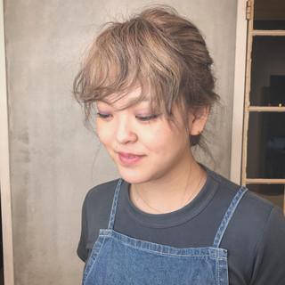 外国人風 セミロング 女子力 ヘアアレンジ ヘアスタイルや髪型の写真・画像