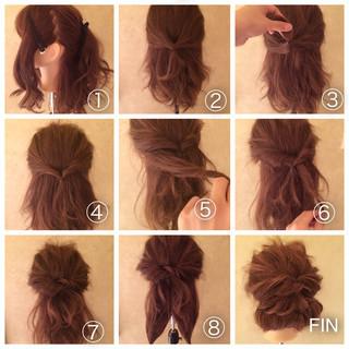 くるりんぱ ショート ロング アップスタイル ヘアスタイルや髪型の写真・画像
