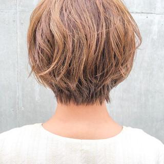 デジタルパーマ ショート ナチュラル ショートヘア ヘアスタイルや髪型の写真・画像