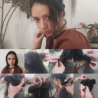 フリンジバング ナチュラル ミディアム アッシュ ヘアスタイルや髪型の写真・画像