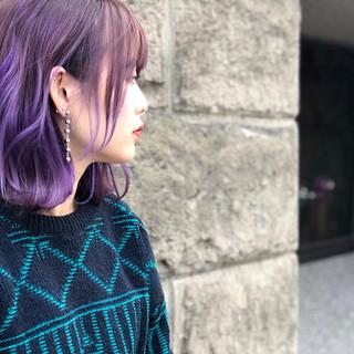 グラデーションカラー ストリート 外国人風カラー ボブ ヘアスタイルや髪型の写真・画像