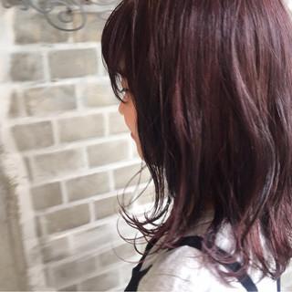 ブリーチ ダブルカラー ハイライト ピンク ヘアスタイルや髪型の写真・画像